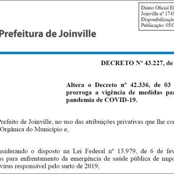 prefeitura-de-joinville-prorroga-decreto-com-medidas-de-combate-a-pandemia