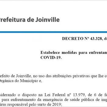 prefeitura-de-joinville-publica-novo-decreto-para-alinhar-combate-a-pandemia-as-normas-estaduais
